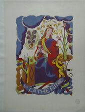 AFFICHE ANCIENNE  SAINTE CATHERINE TOUR EIFFEL TOUCHAGUES 1941