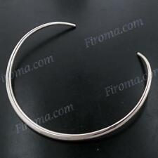 "16"" 6MM STERLING SILVER TUBE COLLAR TORQUE choker NECKLACE"