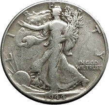 1944 WALKING LIBERTY Half Dollar Bald Eagle United States Silver Coin i44671