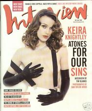 Interview Magazine Dec/January 2008 Kiera Knightly Diane Kruger Alicia Keys Ral