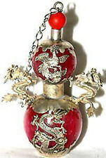 Chinese jade tibet silver dragon snuff bottle