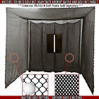 Golf Cage Practice Net & Baffle 10' x 10' x 10' (#252Poly) Frame Not Included