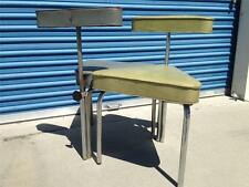 VTG Mid Century Eames Era Industrial IRVING CHASE Triangle Chairs (Pair) MCM