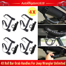4× Roll Bar Grab Handles 4WD Off Road Accessories For Jeep Wrangler JK Unlimited