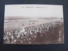 France Horse Racing Deauville Pendant Course Postcard