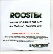 (252J) Rooster, You're So Right For Me - DJ CD