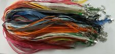 50pcs 11 color Organza Ribbon Necklace Silk Cord Clasp 430mm
