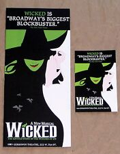 2 Wicked Broadway Musical Show Theater Ad Flyer Pamphlet New York