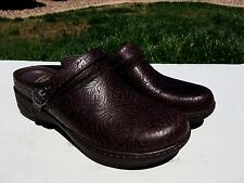 Dansko Allison Mules Clogs Womens 42 (US 11.5-12) Brown Floral Embossed NEW $130