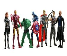 "Hot Lot 7 Marvel&DC The Avengers Movie 6"" Figure Set toys Gift Free Shipping"