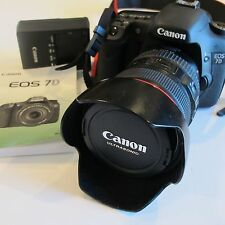 Canon EOS 7D 18.0 MP Digital SLR Camera with Canon 24-105mm IS L lens, Excellent