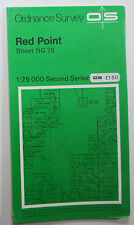 1971 OS Ordnance Survey 1:25000 Second Series Pathfinder Map Red Point NG 76