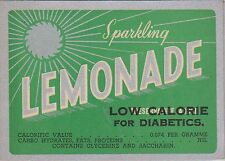 (LOA18) 1950-60 AU Webster's lemonade OP low calories