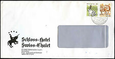 Switzerland 1991 Schloss Hotel Swiss-Chalet, Merlischachen Cover #C36798