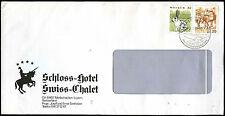 Switzerland 1991 Schloss Hotel Swiss-Chalet, Merlischachen Cover #C36798