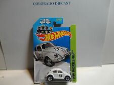 2014 Hot Wheels #191 White Herbie The Love Bug Volkswagen Beetle