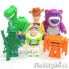 NEW Lego Toy Story Woody Buzz Lightyear Dinosaur Rex Green Army Lotso Bear Chunk