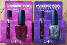 Dynamic Duo OPI Nail Polish Lacquer Lip Gloss Red Meep Silver Designer Be Better