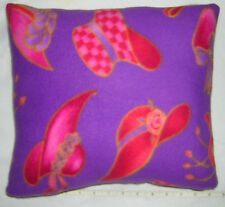 New  ***  LADIES ***  RED HAT ***  FLEECE fabric pillow   Handmade in the U.S.A.