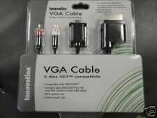 New XBOX 360 - VGA A/V Gold Plated Cable Innovation PC HDTV Adapter Cord RCA