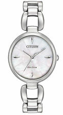 NEW Citizen Eco-Drive L Stainless Steel Ladies Watch EM0420-54D