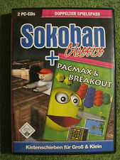 PC CD ROM juego Sokoban Classics + pacmax + Breakout