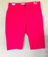 WOMENS FDJ FRENCH DRESSING ORANGE BERMUDAS SHORTS PANTS SIZE 6 STRAIGHT LEG