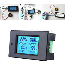 AC 80-260V LCD Digital 100A Voltage Watt Power Meter Tester Ammeter Voltmeter