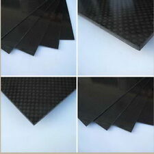 200×300×1mm With 100% Real Carbon Fiber plate/panel/sheet 3K plain weave New FS