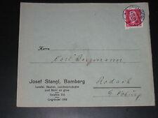 DR Deutsches Reich Heimatbeleg Brief Josef Stangl Saaten & Mehl BAMBERG 17.4.29