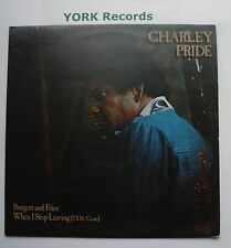 CHARLEY PRIDE - Burgers & Fries / When I Stop Leaving - Ex LP Record RCA Victor