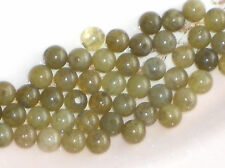 #814 Vintage Beads Glass Sage Green Marble Japan Half Drilled One Hole Picasso