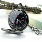 Steampunk Retro Vintage Mechanical Chain Quartz Pocket Watch Roman Pattern FY