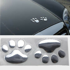 3D Car SUV PVC Plastic Cute Funny Bear Footprint Logos Decal Stickers Decoration