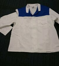 Alexandra workwear White colour white royal blue colour chest tunic
