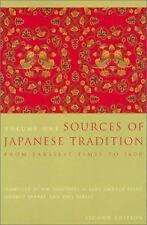 Sources of Japanese Tradition, Volume One: From Earliest Times to 1600 Volume 1