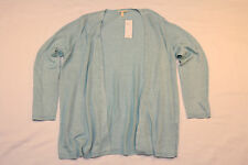 Eileen Fisher polished linen Shaped Cardigan Sweater (XL) *NWT* blue