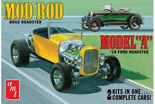 AMT 1929 Ford A Roadster Mod Rod Model Car Mountain 1/25 2 kits in one IN STOCK
