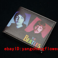 The Beatles Wallet Fashion Short Leather Two-Fold Cartoon Purse Cool