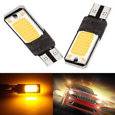 20x Amber Car T10 COB LED Canbus Error Free Bulb Side Tail Light 194 W5W 192 168