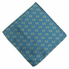 Sigma Chi Blue Background Letter Design Handkerchief/Hanky