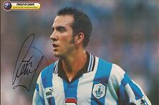 SHEFFIELD WEDNESDAY: PAOLO DI CANIO SIGNED A4 (12x8) MAGAZINE PICTURE+COA