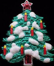 """BEST RED WHITE GREEN FAT CANDLE CHRISTMAS TREE PIN BROOCH PENDANT JEWELRY 2"""" LRG"""