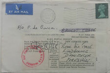 1967 BRITISH FORCES COVER GERMANY WITH ROYAL AIR FORCE AKROTIRI CYPRUS LABEL