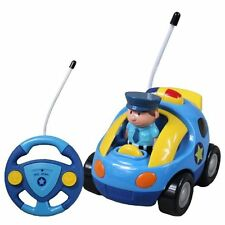 Kids New Cartoon R/C Police Car Radio Control Toy For Toddlers Toddler Gift Play
