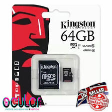 64GB KINGSTON Micro SD SDXC Memory Card Class 10 45MB/s inc SD Card Adapter 64GB