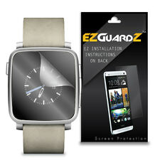6X EZguardz NEW Screen Protector Skin Cover Shield HD 6X For Pebble Time Steel