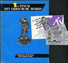 1st Annual MTV Video Music Awards Program, Two Tickets & After Party Invitation