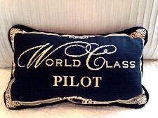 """WORLD CLASS PILOT aviation aircraft airplane 8""""x12"""" small Accent Pillow NEW"""