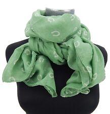 Damenschal grün weiß Hufeisen Schal by Ella Jonte new arrival scarf horse shoe